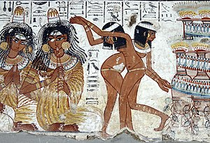 Древнеегипетские танцовщицы и музыканты
