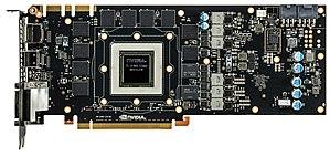 Nvidia GeForce GTX 780 met heatsink verwijderd.