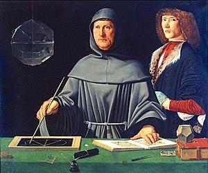 Schilderij van Luca Pacioli, vermoedelijk geschilderd door Jacopo de' Barbari