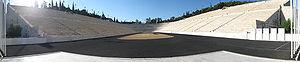 Panorama van het Panathinaiko Stadion