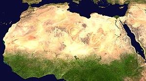 Спутниковый снимок Сахары.