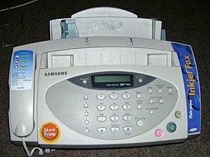 Een Samsung-faxapparaat