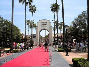 Tor zu den Universal-Studios, Hollywood.