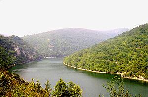 Rzeka Vrbas w Bočac, Bośnia i Hercegowina