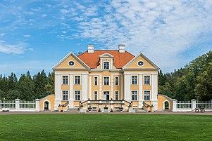 Een landhuis in Estland.