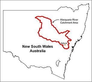Macquarie River Catchment Map