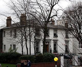 De buitenkant van EMI's Abbey Road Studios, Londen, Engeland
