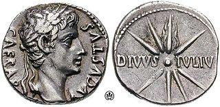 Munt geslagen door Augustus (ca. 19-18 v. Chr.)