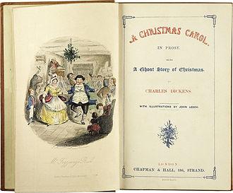 Een Christmas Carol-voorzetstuk en titelpagina