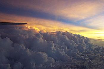 Foto van regenbanden in Hurricane Isidore
