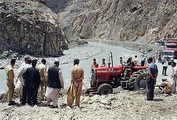 Aardverschuiving in Pakistan