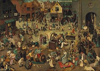 Pieter Bruegel de Oudere, De slag van Carnaval en Vastenavond.