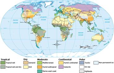 Weltweite Klima-Klassifikationen