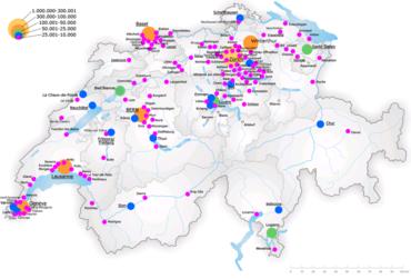 Bevolking van steden met meer dan 10.000 inwoners