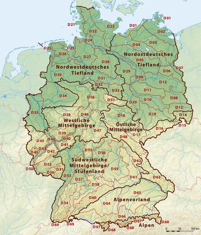 Belangrijke natuurgebieden in Duitsland