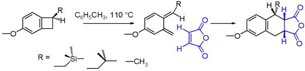 Scheme 2. benzocyclobutane ring opening