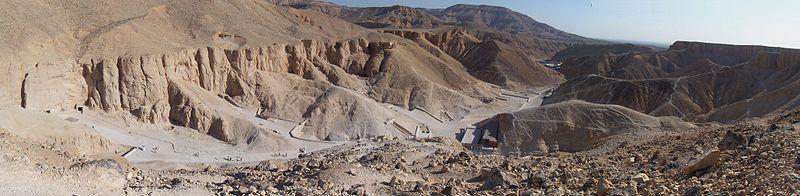 Panorama van de vallei, kijkend naar het noorden
