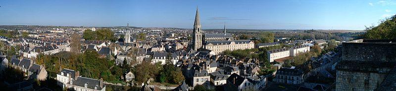 Vendôme: Uitzicht vanaf het kasteel.