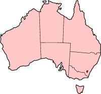 Canberra ligt in het zuidoosten van Australië...