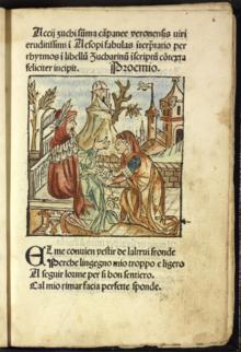 Aesopus moralisatus , 1485