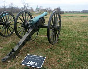 6-ponder kanon bij Antietam slagveld