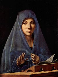Antonello da Messina schilderde deze Madonna in olieverf in de jaren 1470