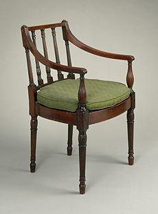 18e eeuwse fauteuil, van Amerikaanse makelij