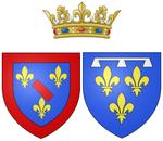 Wapen van Orléans als prinses van Conti.