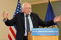 Sanders na předvolební akci v Manchesteru, New Hampshire, říjen 2015