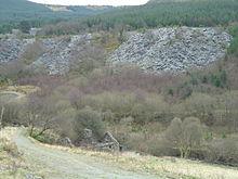 De overblijfselen van de steengroeve van Bryn Eglwys in 2008