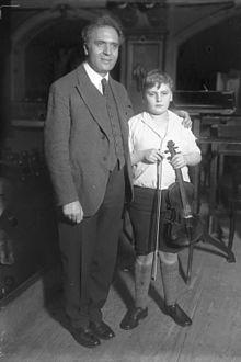 Yehudi Menuhin mit Bruno Walter (1931)
