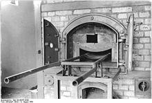 Het crematorium in Ravensbrück. Als mensen in het kamp stierven, werden hun lichamen hier tot as verbrand