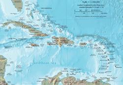 Kaart van het Caribisch gebied