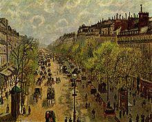 De Boulevard Montmatre in het voorjaar van 1897
