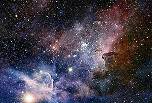 Een beeld van de Carinanevel genomen door de Very Large Telescope van de Europese Zuidelijke Sterrenwacht (Ultrahoog beeld beschikbaar door te klikken)