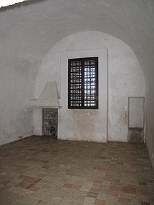 Gevangeniscel van de man met het ijzeren masker op het eiland Sainte Margerite