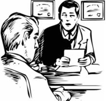 Intervista clinica Una parte importante di una valutazione del rischio di suicidio è un colloquio clinico. Questo avviene quando un medico o un'altra persona qualificata parla con la persona che ha bisogno di aiuto e fa domande su come si sta comportando.