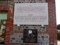 Dieppe Raid 1942, gedenkplaat voor N°4 Commando bij Sainte-Marguerite-sur-Mer