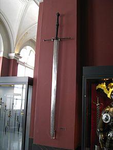 Een zwaard in een museum in Dresden