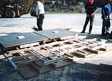 Montage van vier aardbevingsbeschermers.