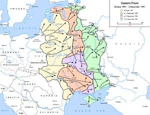 De As in het Oostfront: Operatie Barbarossa tot 9 juli 1941 tot 1 september 1941 (operaties rond Kiev) tot 5 december 1941.