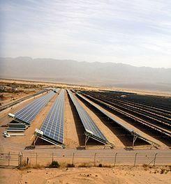 Pole słoneczne w Kibucu Elifaz, Izrael.