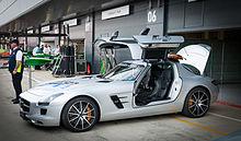 Samochód bezpieczeństwa na Grand Prix Wielkiej Brytanii 2014.
