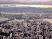 Florianópolis, a capital de Santa Catarina.