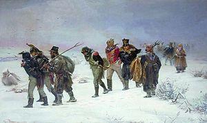 Franse terugtocht uit Rusland in 1812