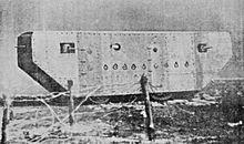 Wczesny czołg francuski, 1915
