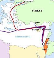 De route van de schepen van het flottielje.