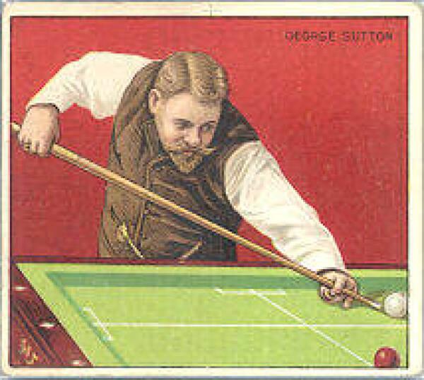 George Sutton tabakskaart, ca. 1911. Het afgebeelde spel is ballistisch.
