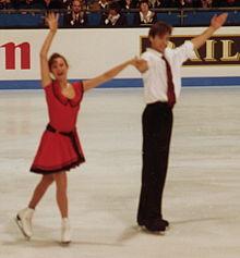 Oksana Grichuk en Evgeny Platov bij de Europese kampioenschappen van 1994