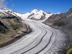 De Aletschgletsjer is de grootste gletsjer in de Alpen